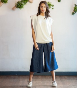 Dark Denim Culottes