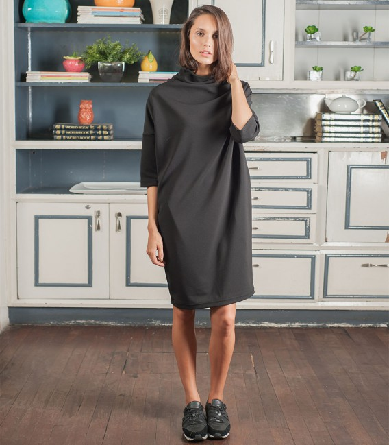 Emma Funnel Neck Dress