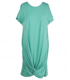 Tie My Hem Mint Green Cotton Dress